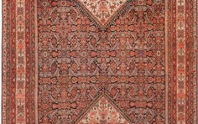 ANTIQUE PERSIAN MALAYER GALLERY CARPET. 17 ft x 7 ft 6 in (5.18 m x (2.29 m).