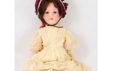 Armand Marseille, Germany, bisque head doll, 390 head stamp.