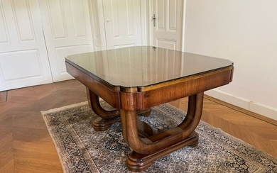 Art Deco dining table - extendable to 205 cm