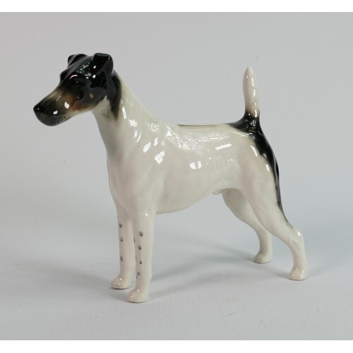 Beswick smooth haired fox terrier 964: Endon black rod.