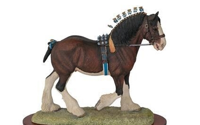 Border Fine Arts 'Victory at the Highland' (Clydesdale Stallion, Standard...
