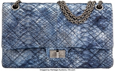 Chanel Limited Edition Iridescent Blue Quilted P