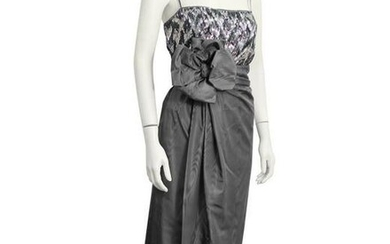 Christian Dior Grey Silk and Beaded Couture Ensemble