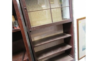 EDWARDIAN MAHOGANY DISPLAY CABINET/BOOKCASE, cabinet to top ...