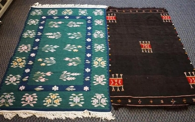 Flatstitch Rug with South American Weaving, Larger: 5 ft 1 in x 3 ft 8 in