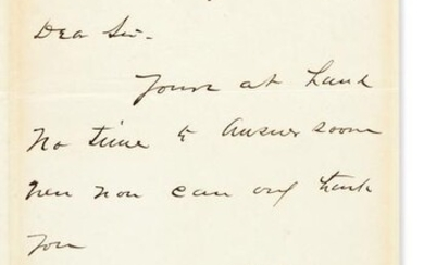 """GARFIELD, JAMES A. Letter Signed, """"JAGarfield,"""" to C.J."""
