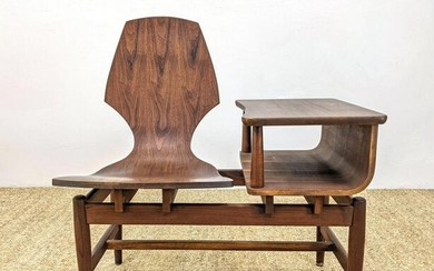 Good American Modern Bench Seat Table. Molded wood on