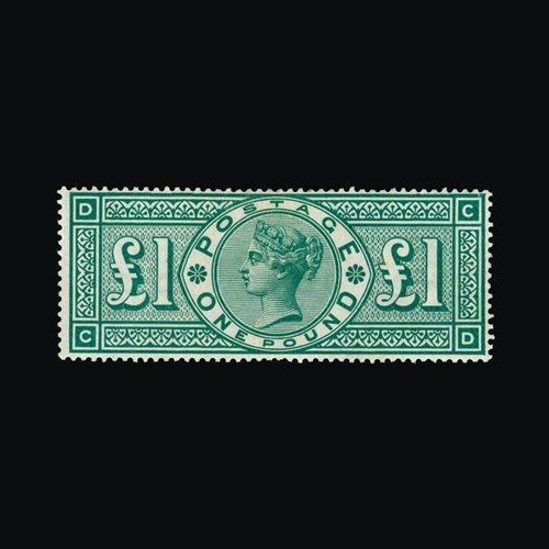 Great Britain - QV (surface printed) : (SG 212) 1891 £1 gree...