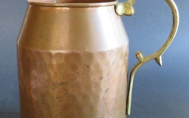 Large Solid Copper Tankard, Mug Made in Turkey 1970s