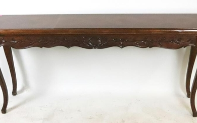 Mahogany Console Table, Parquetry Inlaid Top