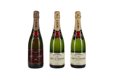 ONE MOET 1998 MILLESIME ROSE AND TWO BRUT IMPERIAL