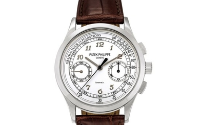 Patek Philippe | Reference 5170, A white gold chronograph wristwatch, retailed by Tiffany & Co., Circa 2018 | 百達翡麗 | 型號5170 白金計時腕錶,由 Tiffany & Co. 發行,約2018年製