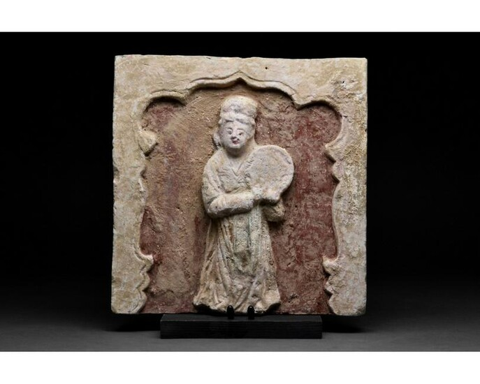 RARE CHINESE SONG DYNASTY TERRACOTTA BRICK