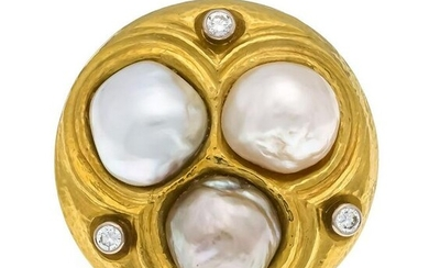South Sea diamond brooch / pendant