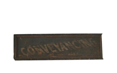 Vintage Signage, Conveyancing Painted Wood Sign.