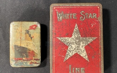 WHITE STAR LINE: Cadbury's advertising tin plus one other ad...