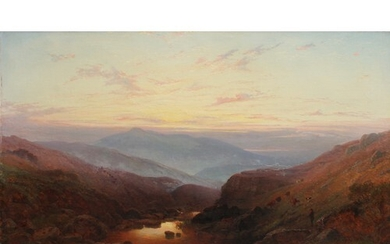 Walter Heath Williams (act.1841-c.1876) Early morning on the...