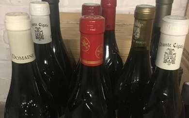 2009 Mixed lot of Chateauneuf du Pape red wine on 2009 vintage - Châteauneuf-du-Pape, Rhone - 9 Bottles (0.75L)