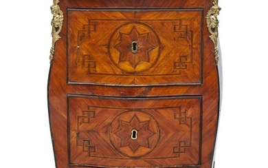 609-A rosewood marquetry chest of drawers with two drawers on...