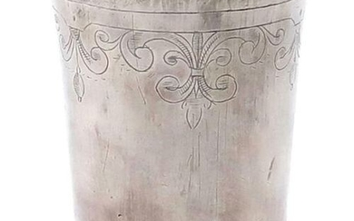 A 17th century Belgian silver beaker, maker's mark of a...