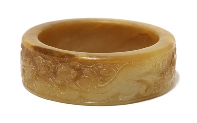 A Chinese jade bangle
