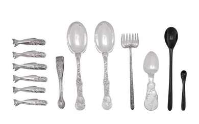 A Collection of Tiffany & Co. Silver Flatware Articles