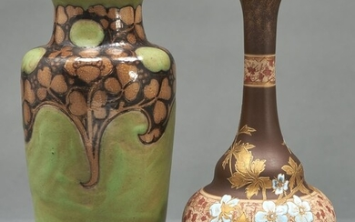 A Doulton ware vase, designed by Mark V Marshall, 1905, of s...