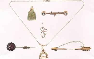 A Group of Antique Gold Filled Jewelry