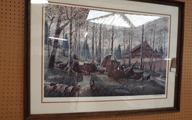 A Limited Edition original collotype print by Ken Michaelson...