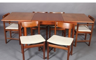 A White & Newton of Portsmouth teak dining suite, c.1970s, c...