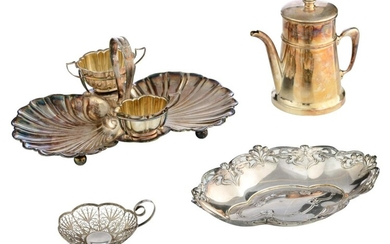 A charming lot of silver-plated tableware
