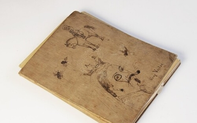 A common place book or sketchbook, late 19th/early 20th cent...