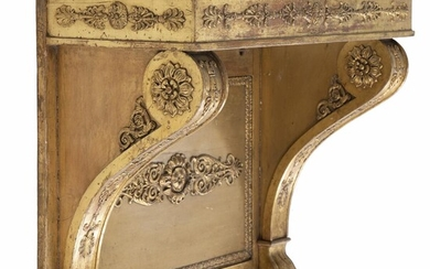 NOT SOLD. A gilded late empire console with later marble top. C. 1830. H. 70 cm. W. 78 cm. D. 38 cm. – Bruun Rasmussen Auctioneers of Fine Art