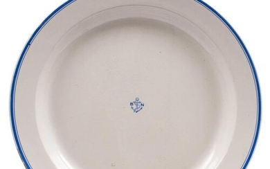 A large circular Royal Doulton shipping line charger: with b...
