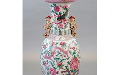 A massive Chinese famille rose 'dragon and phoenix' vase, 20...