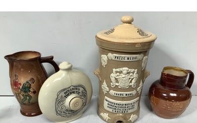 A pottery Prize Medal Improved rapid Water Filter, together ...