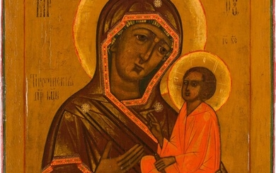 AN ICON SHOWING THE TIKHVINSKAYA MOTHER OF GOD Russian, 18th...