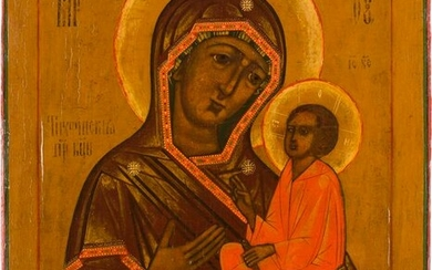 AN ICON SHOWING THE TIKHVINSKAYA MOTHER OF GOD Russian