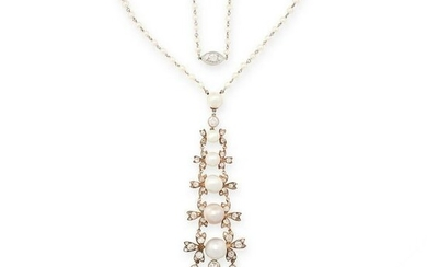 AN IMPORTANT BELLE EPOQUE NATURAL PEARL AND DIAMOND