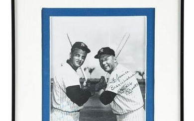 AUTOGRAPHED PHOTO OF MICKEY MANTLE AND ROGER MARIS.
