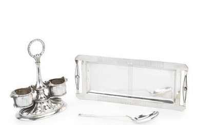 An Austrian silver small two-handled tray