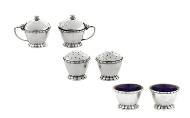 An Edward VIII 'Arts and Crafts' sterling silver