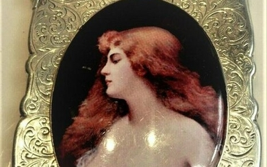 Antique British Erotic 1897s Nude Lady Sterling Silver