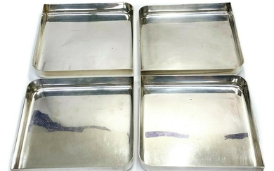 Bvlgari Sterling Silver Sectional Serving Trays