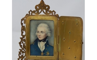 C19th Portrait on Ivory of Admiral Horatio Nelson c.1800 Pos...