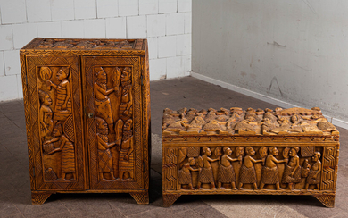 Chest of drawers / cabinet and chest, wood, Africa (2).
