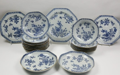 Chinese Export Porcelain Partial Dinner Service