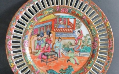 Chinese Export Porcelain Plate Jiaqing Mark