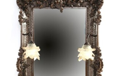 (-), Classic mirror in a molded frame with...