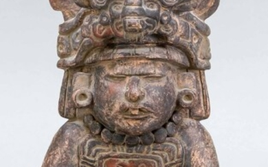 Clay figure in pre-Columbian style, 20th c